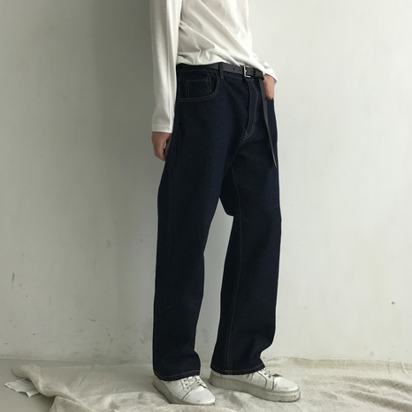 STRAIGHT WIDE DENIM(2COLORS)