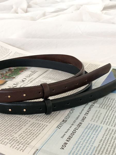 MOOD LEATHER BELT(2COLORS)