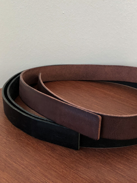 NONE BUCKLE MINIMAL BELT(2COLORS)