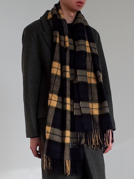 VINTAGE CHECK WOOL MUFFLER(2TYPE)