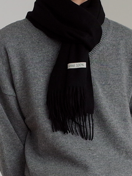 MINIMAL WOOL MUFFLER(5COLORS)