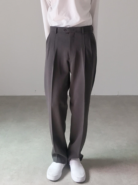 soft long pin tuck slacks(3colors)