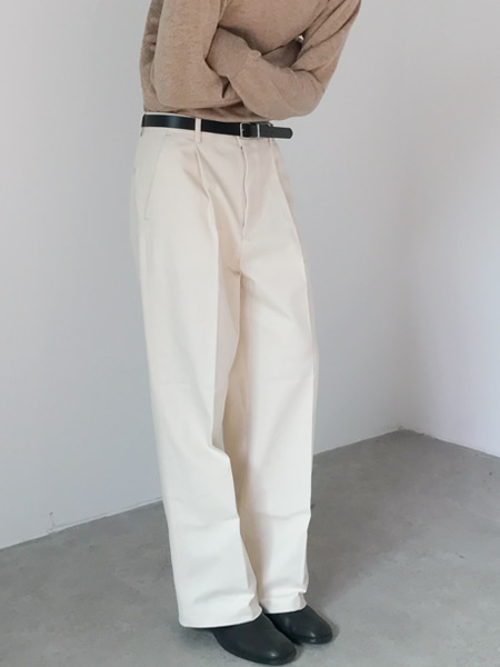 hard texture wide pants(2colors)