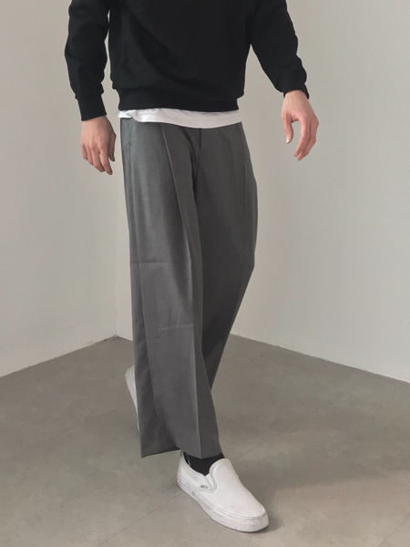 covered tuck wide slacks(3colors)