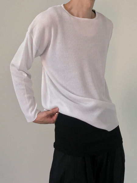 bottle neck minimal cool knit(3colors)