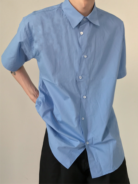 standard wave detail half shirts(3colors)