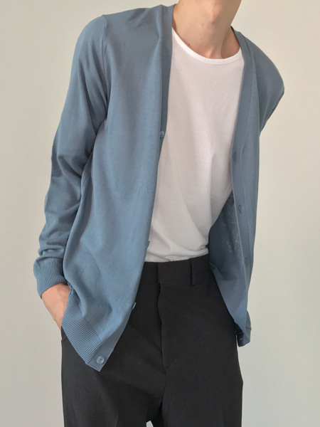 standard thin cotton cardigan(10colors)