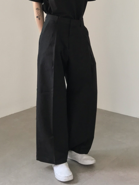 linen high waist wide pants(3colors)