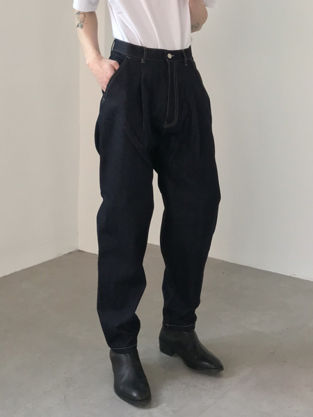 formal tapered hard texture pants(3colors)