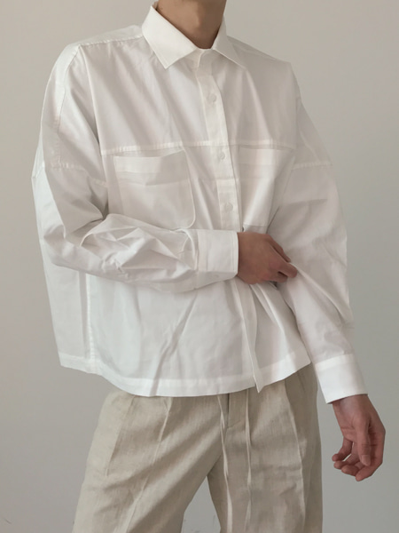 two pocket lightly short shirts jacket(3colors)